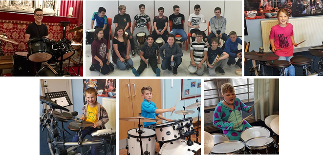 Young Students at Ian West's School of Drums